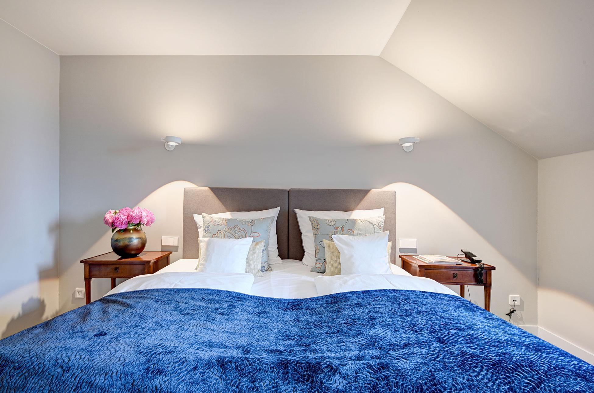 Schlafzimmer Suite des Hotel Admiral, München