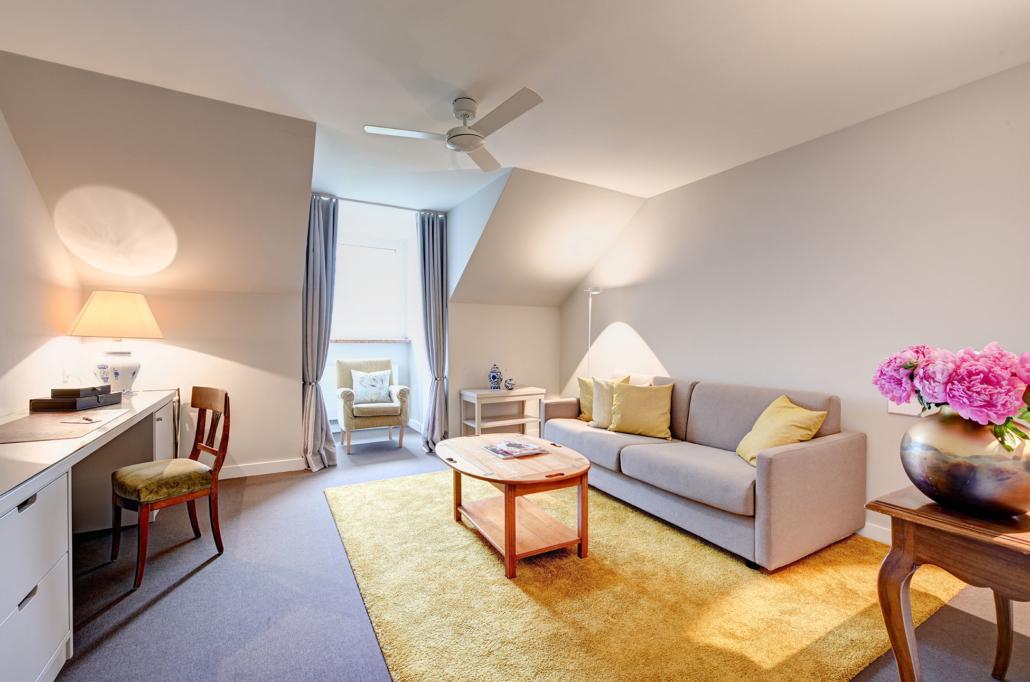 Wohnzimmer Suite des Hotel Admiral, München